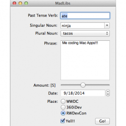 OS X Core Controls Tutorial: Part 2/2