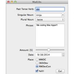 More OS X core controls!