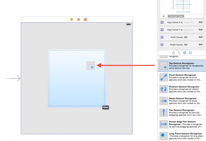 Xcode-AddTapGestureRecognizer