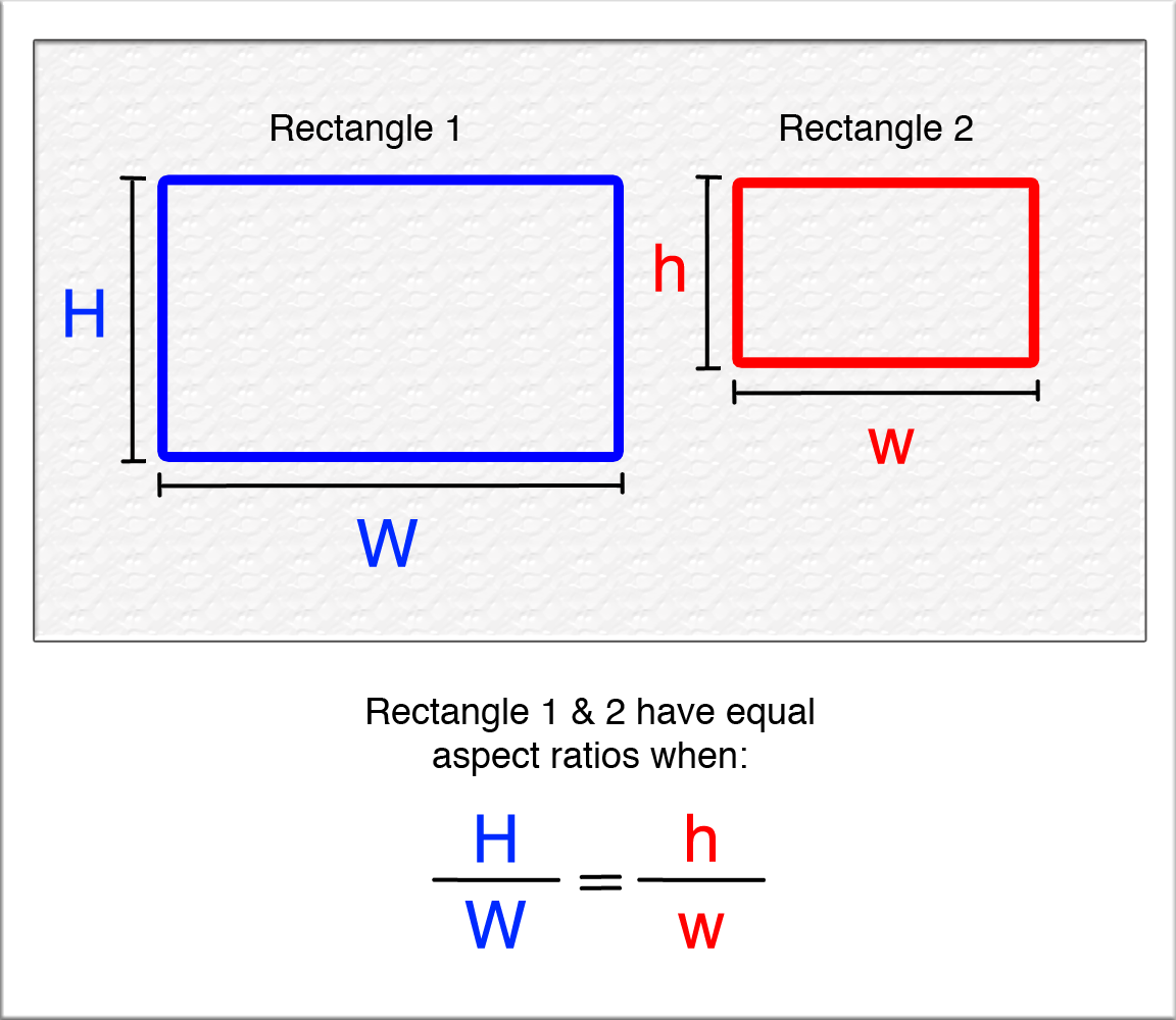aspect ratio In cinematic terms, these ratios are expressed in the following manner: 4x3 is referred to as a 133:1 aspect ratio (133 units of horizontal width against 1 unit of vertical height) and 16x9 is expressed as a 178:1 aspect ratio (178:1 units of horizontal width against 1 unit of vertical height.
