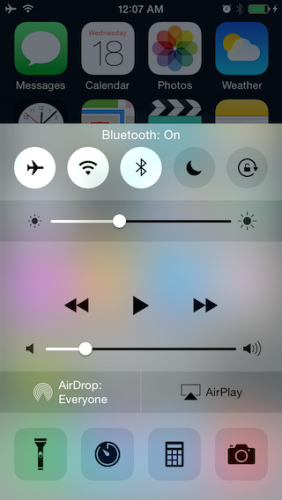 Turn on Wi-Fi  and Bluetooth after turning on Airplane mode
