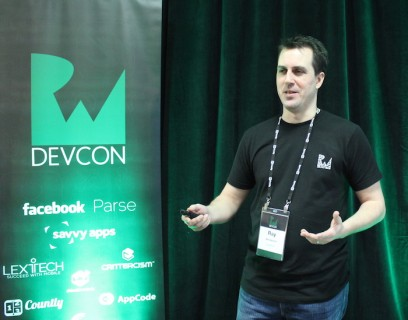 Ray Wenderlich speaking at RWDevCon
