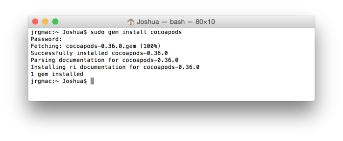 Install CocoaPods