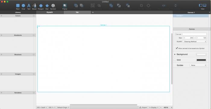 PaintCode new document