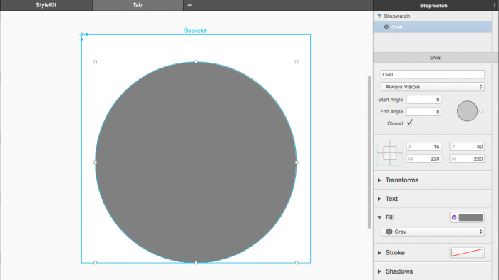 Drawing a circle in PaintCode
