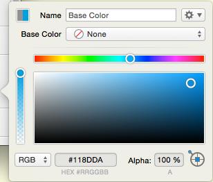 PaintCode color settings