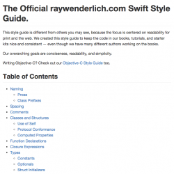 Swift Style Guide: April 2015 Update