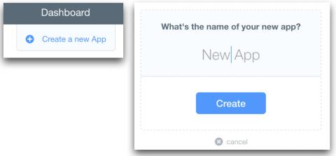 Create new Parse app