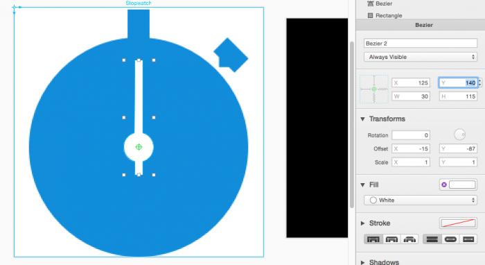 PaintCode shape origin