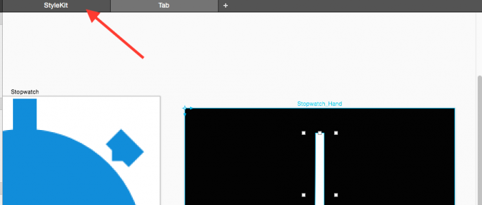 PaintCode StyleKit tab
