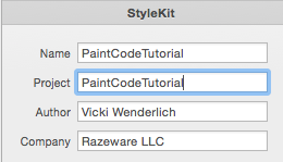 PaintCode StyleKit export