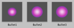 Bullet prefabs - size increases with level