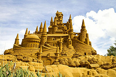 Even the sand castles in Unity are epic (photo by Gavin Filius)