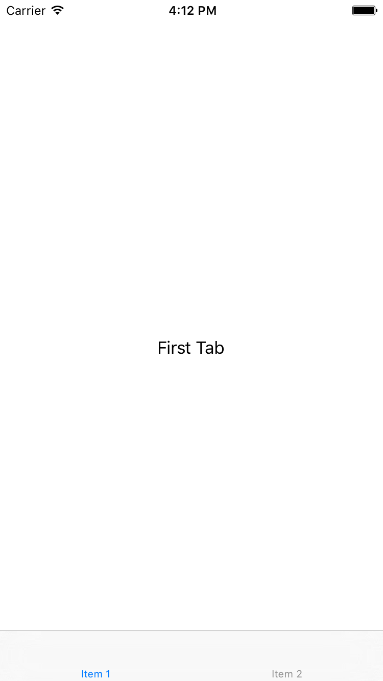 App with Tabs