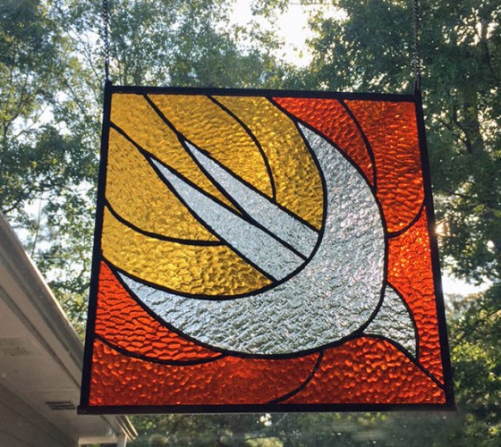 Swift stained glass logo