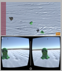 Transform a boring ol' top-down game (top) to an exciting VR game (bottom)!