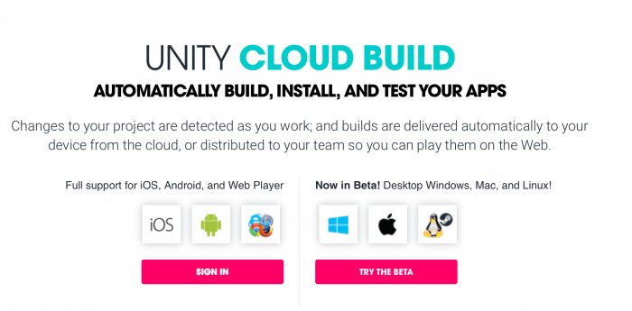 Unity Cloud Build now offers a free tier.