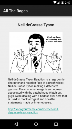 Yay! Actual details on Neil deGrasse Tyson