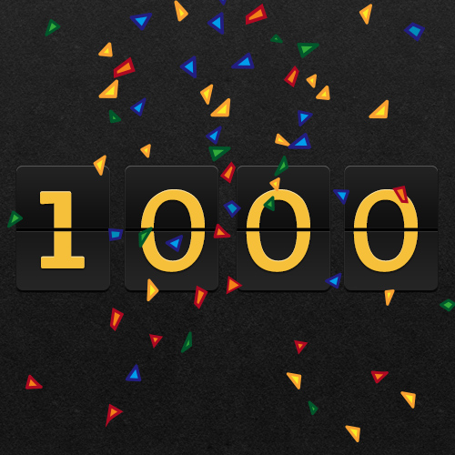 Image result for 1000th