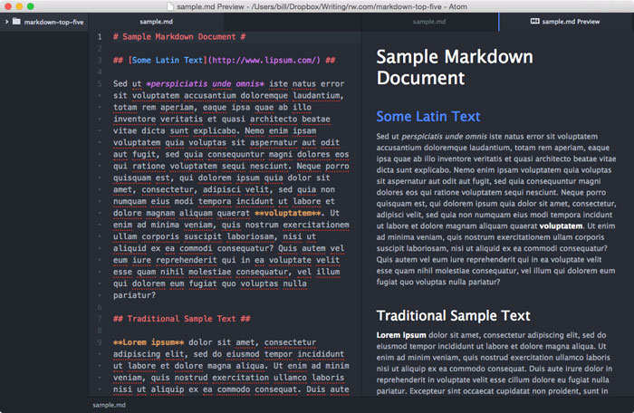 Best Markdown Editors for OS X | raywenderlich com