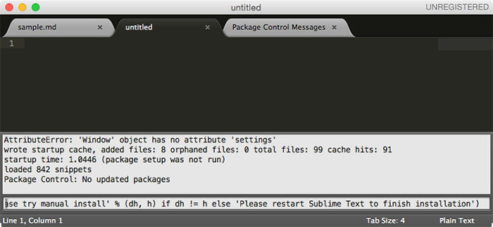 Python to install Sublime Text Package Control