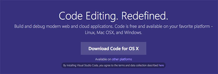 Visual Studio Code Download Page