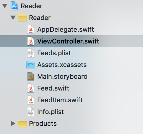 Xcode's Outline View