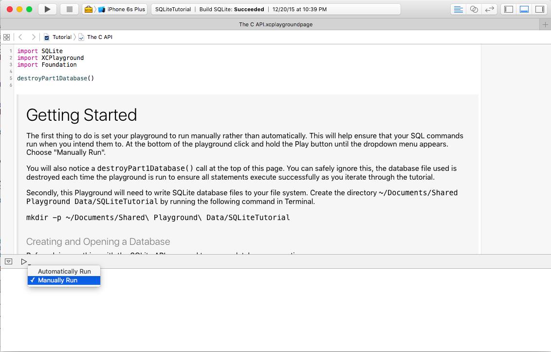 SQLite With Swift Tutorial: Getting Started | raywenderlich com