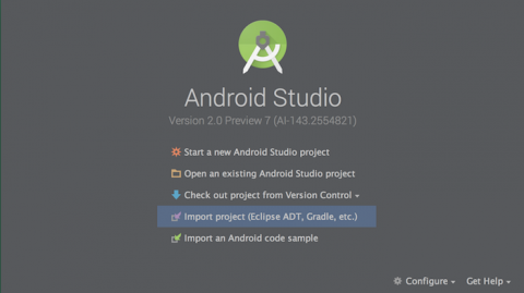 Android Studio: Welcome to Android Studio