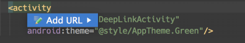Add a Deep Link Intent Filter:  Generate