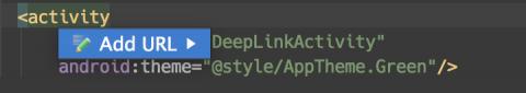 Add a Deep Link Intent Filter:  Generate