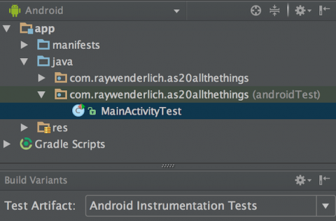 Android Instrumentation Tests Artifact