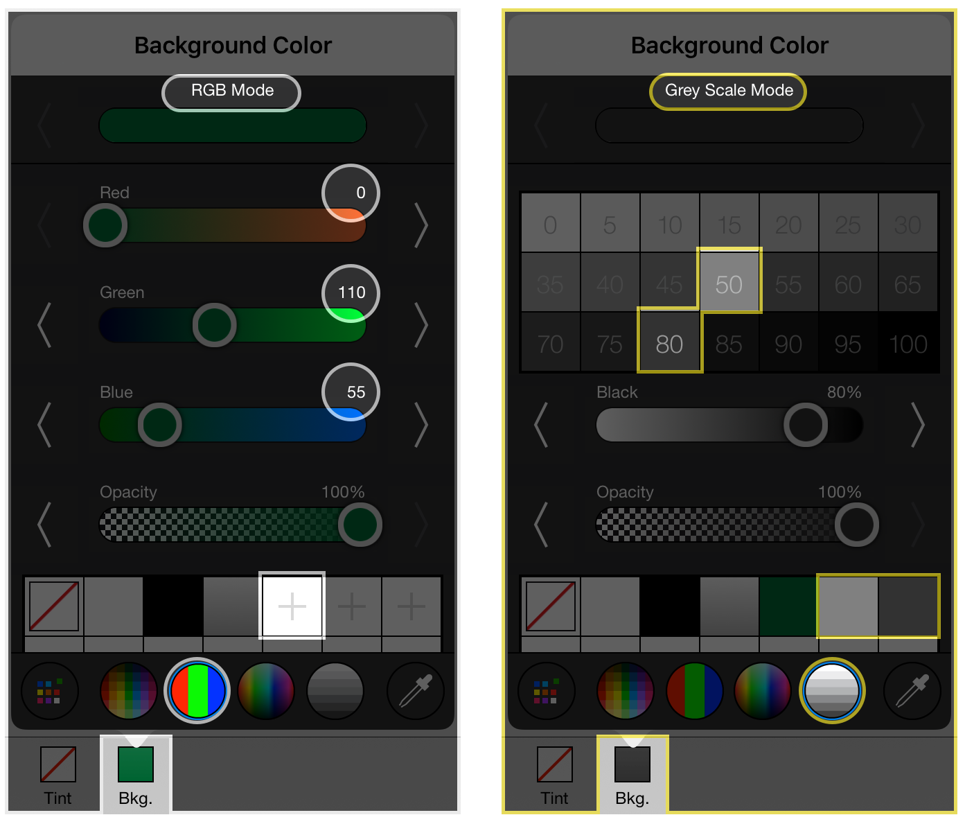 How to make app mockups with appcooker adding colors to the color palette malvernweather Images