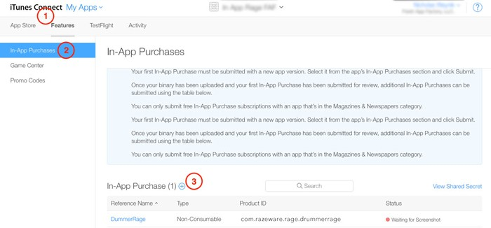 In App Purchases tutorial