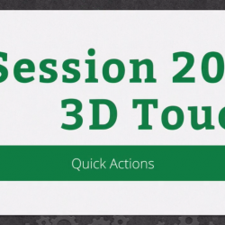 RWDevCon 2016 Session 206: 3D Touch