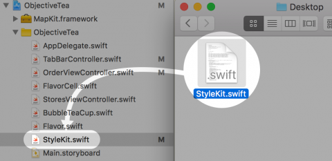 Import StyleKit into Xcode