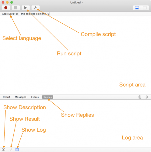 Making a mac app scriptable tutorial: Script Editor