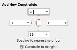 Autolayout constraints for score labels