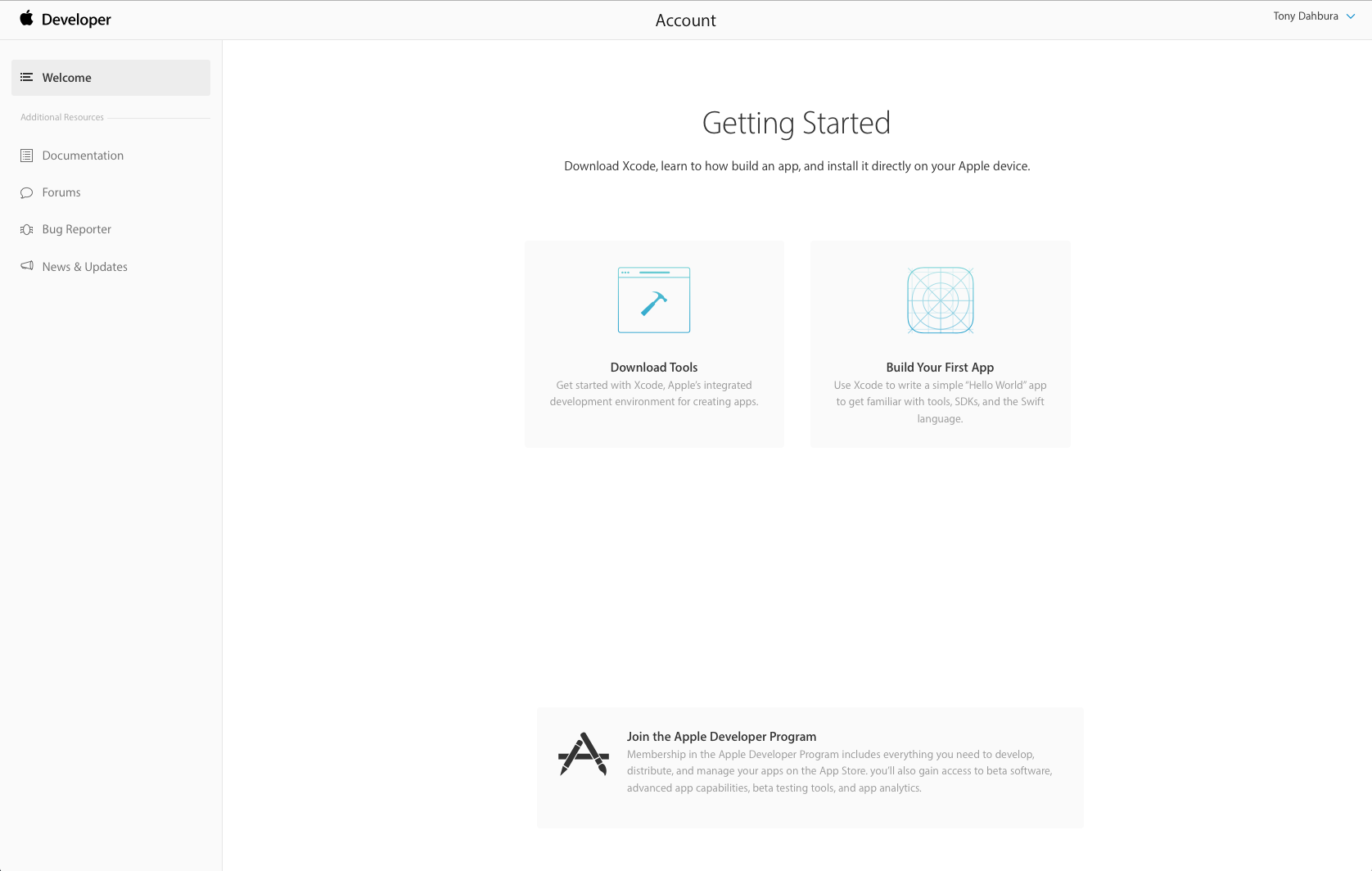 apple developer account login