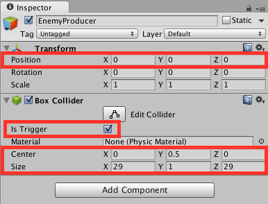 Setting box collider values