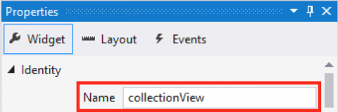 Set Collection View Name