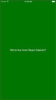 Mixer first React Native app
