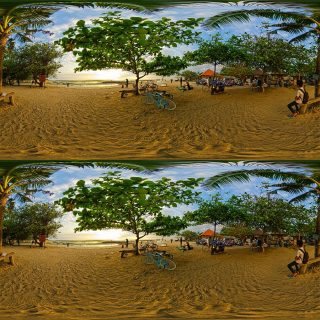 Stereoscopic 360° of Sindhi Beach, Indonesia by Eggy Sayoga