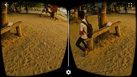 In VR mode, even monoscopic media appears stereoscopic. - Google Cardboard VR