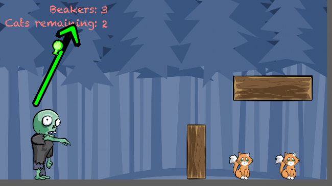 Make a game like Monster Island tutorial. Projectile thrown with a custom angle and power.