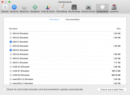 Download the iOS 8.4 simulator