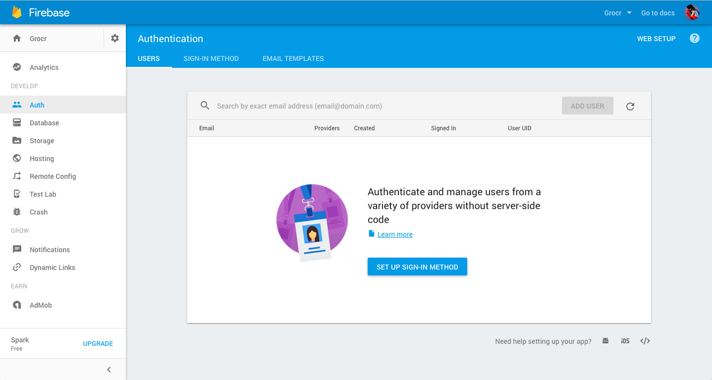 how to add username and other user data firebase auth