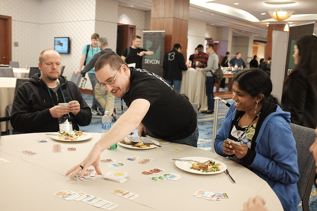 Board games at RWDevCon.