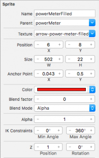 Sprite settings for power meter.