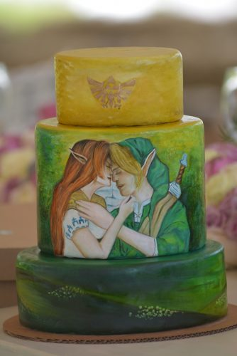 Zelda-themed wedding cake for our Zelda-themed wedding.